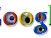 Creepy Google logo with eyes