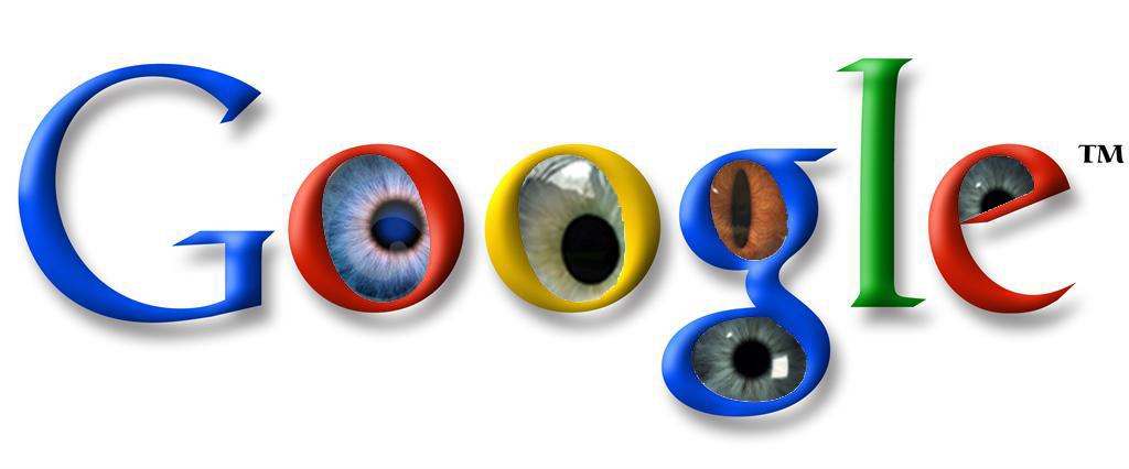 Creepy Google logo with eyes